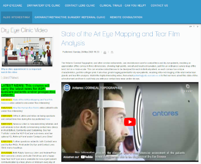 State of the Art Eye Mapping and Tear Film Analysis